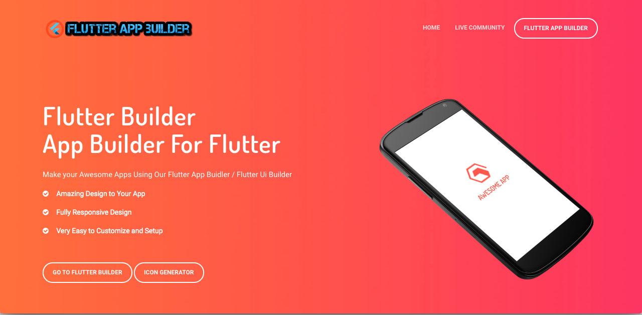 Fluter app builder