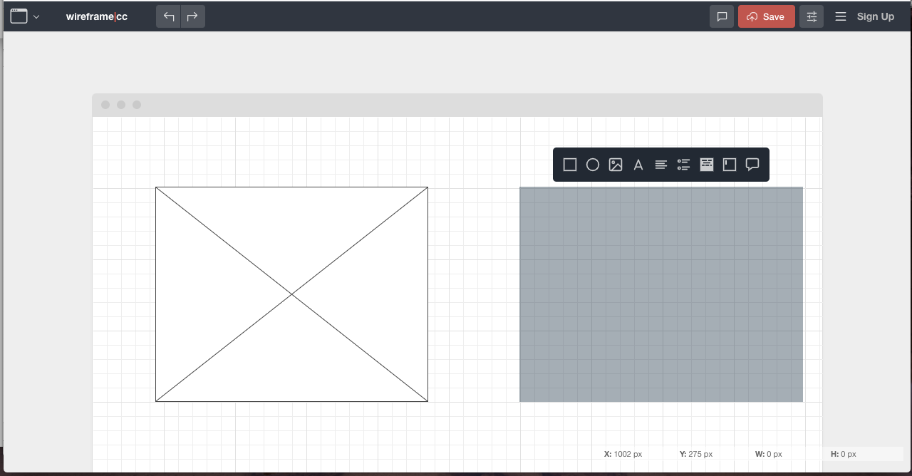 One of the best free wireframe tools - Wirefram.cc