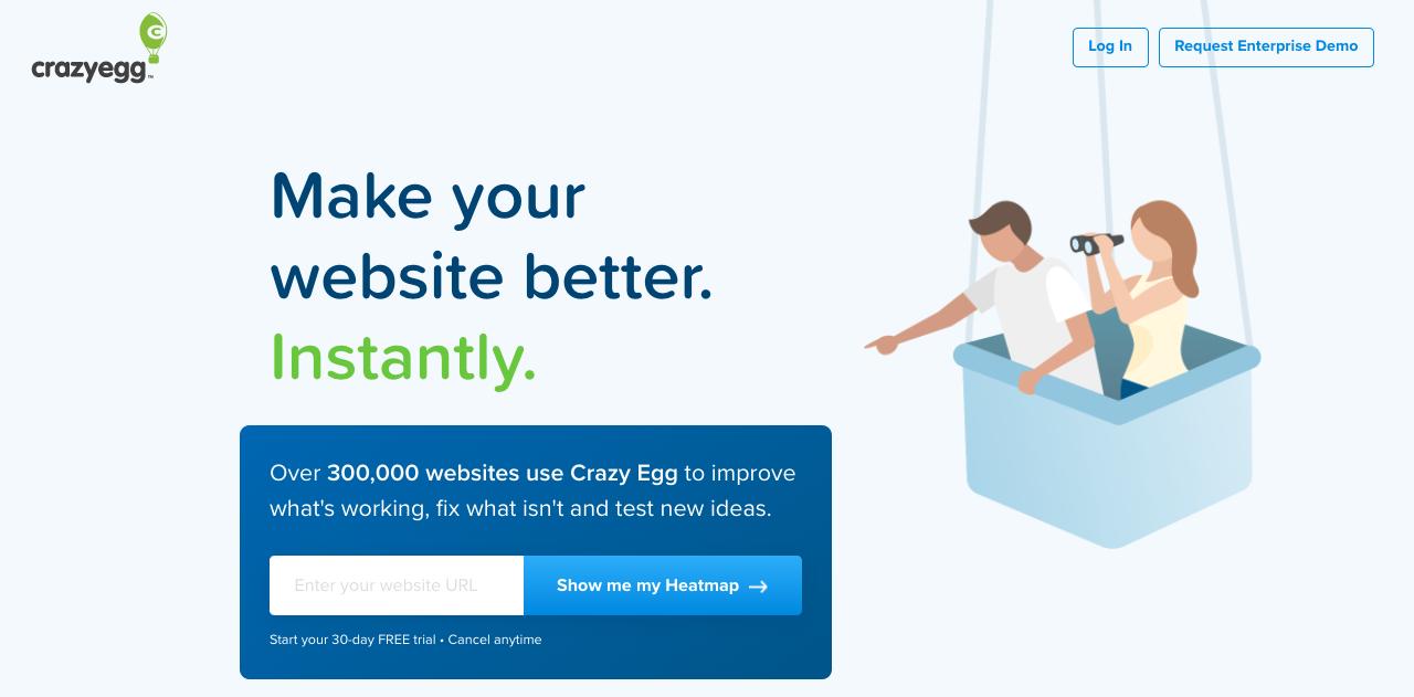 CrazyEgg -Free usability testing tool