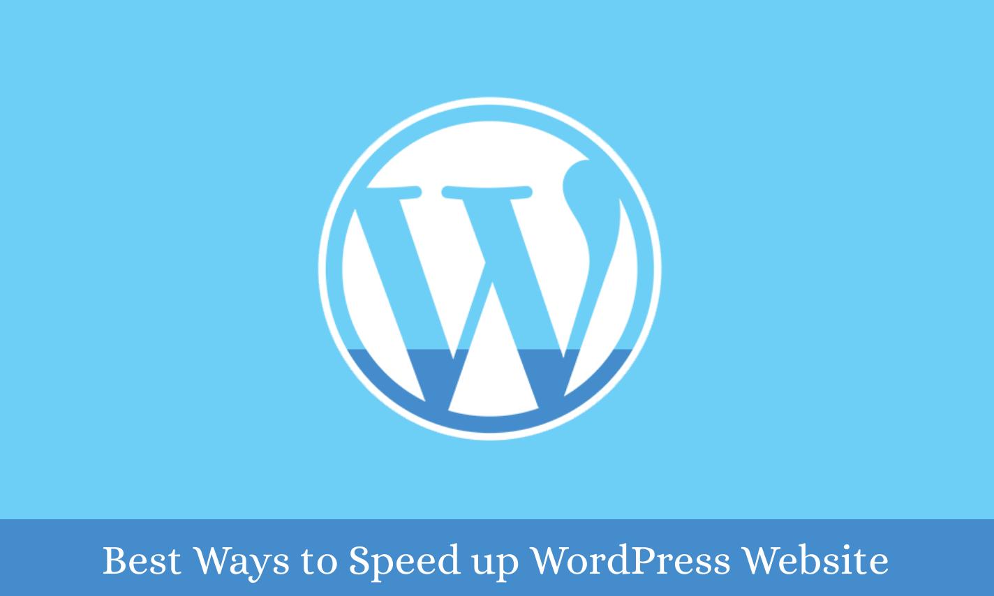 Best-ways-to-speed-up-wordpress-website