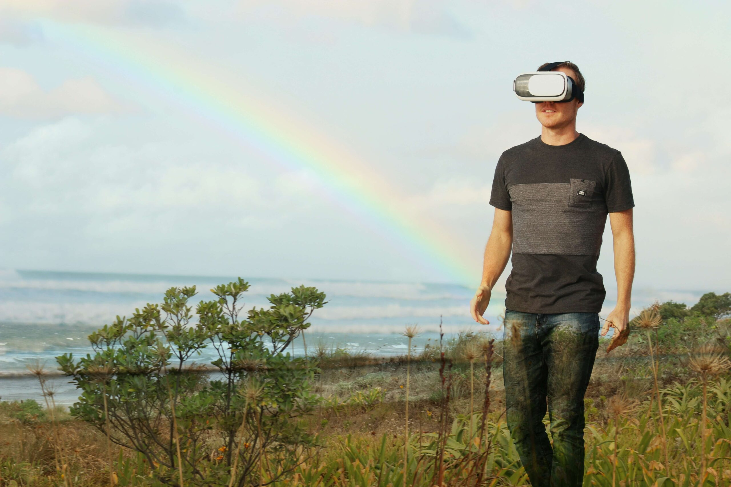 Image of a person who is enjoying augmented reality trend