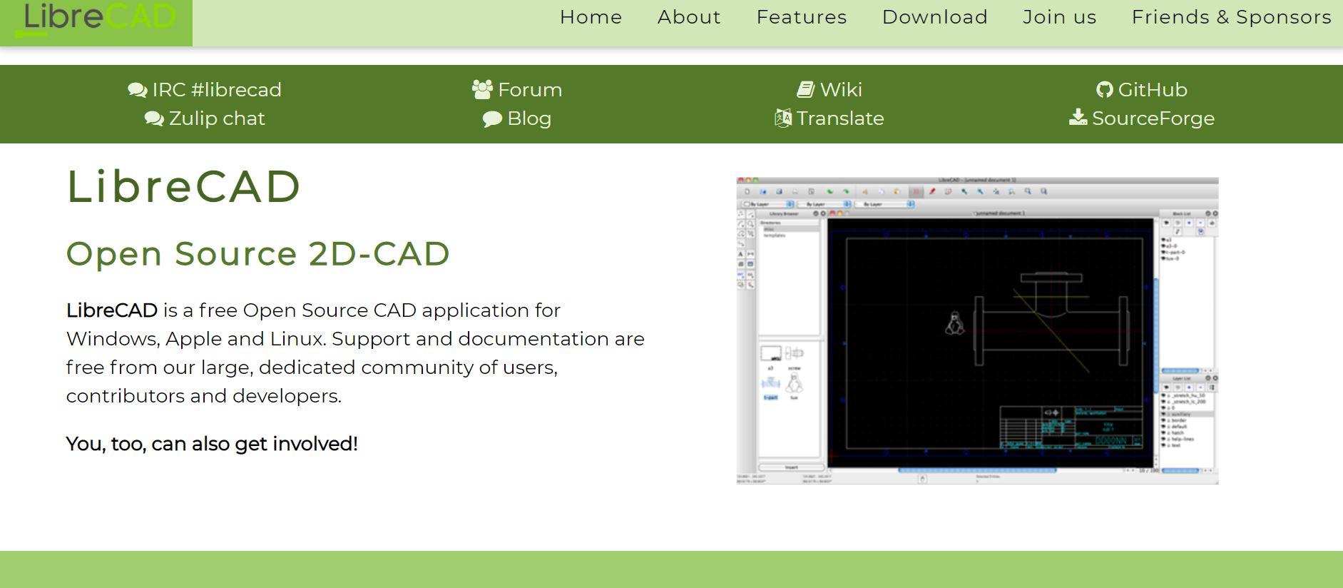 LibreCAD software