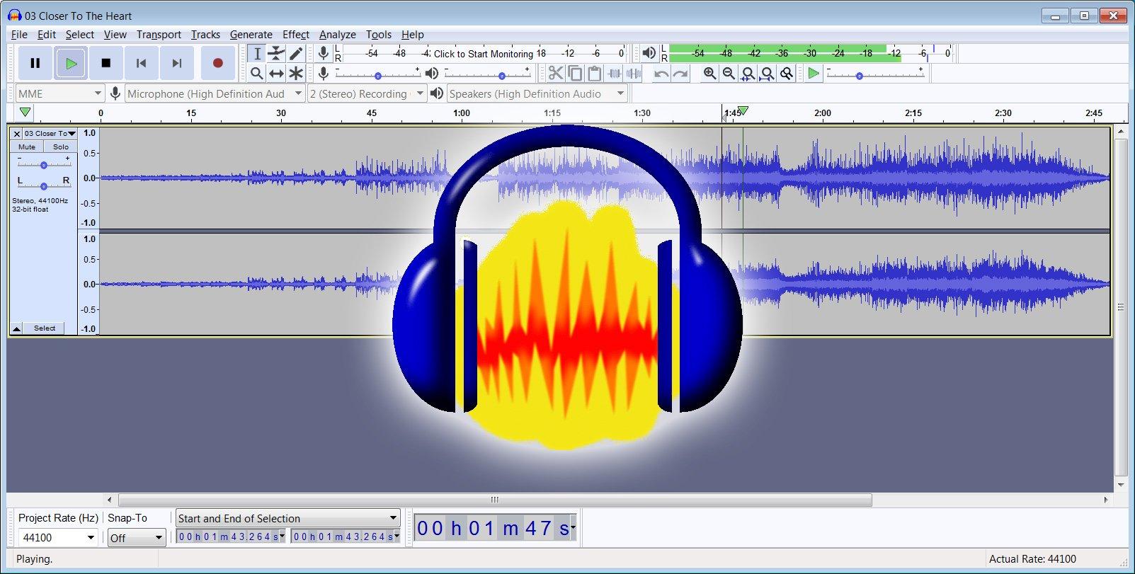 Audacity - A free multi-track audio editor